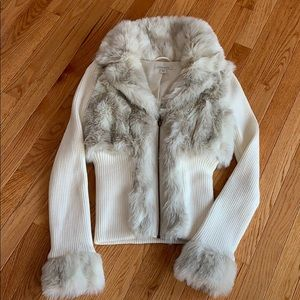 Stunning brand new Faux fur sweater